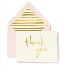 🆕🌸 Kate Spade ♠️ Thank You Cards